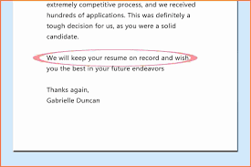 How To Respond To A Job Rejection Email Examples Response To Job