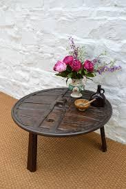18thc ox cart wheel coffee table antique coffee tables primitive cart wheel occasional alt5 alt6