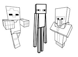 Small Picture Drawing inspired by minecraft 5 Minecraft Coloring pages for