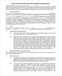 Limited Partnership Agreement Template Limited Partnership Agreement Template Bc 40 Printable Agreement
