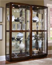Shelves : Amazing Curio Cabinets For Sale Console With Lights ...