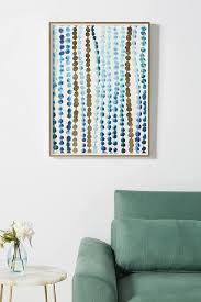 continuity gold blue dots wall art
