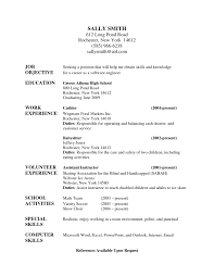resume career objective job samples for babysitter sample cv of it