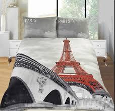 double size 3d print paris eiffel tower soft duvet set