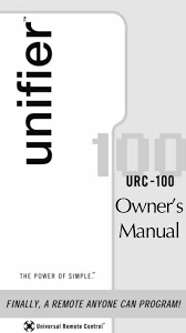universal remote control unifier urc 100 user's manual  at Yamaha Yz9 Wiring Diagram