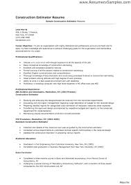 Collision Estimator Resume Examples Construction Example Ideas Of