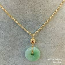 authentic jade coin in 10k tauco necklace