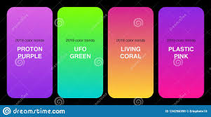 Trendy 2019 Color Palette Gradients Collection As Set Of