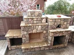 outdoor fireplace pizza oven combo kits decorating small spaces