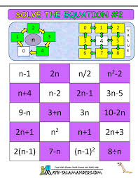 algebra math games printable algebra games solve the equation 2