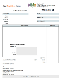 Free Tax Invoice Template free tax invoice template pdf 100 tax invoice templates download free 40