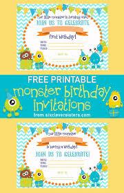 printable monster birthday invitations six clever sisters printable monster birthday invitations
