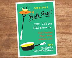 Fish Fry Invitation Elegant Fish Fry Party Invitations