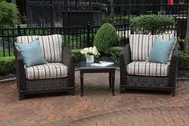 high end patio furniture. Cassini Collection All Weather Wicker Luxury Patio Furniture 2-Person Chat Set High End