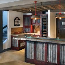 rustic basement bar ideas. Tin Rustic Home Basement Bar Ideas