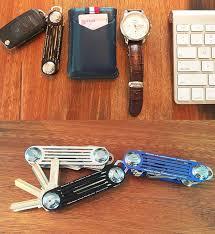 modern brand new 2016 aluminum smart key wallet key organizer holder diy keychain edc pocket car