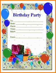 Birthday Invitation Flyer Template 24 Birthday Invitation Template Cna Resumed 24
