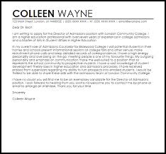 Student Affairs Cover Letter Sample Director Of Admissions Cover Letter Sample Cover Letter