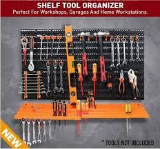 52 piece pegboard shelf tool organiser