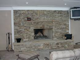 Dry Stack Fireplace Stone Veneer Panels Installation