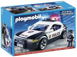 Playmobil City Action Police Van With Lights And Sound 6043 Amazon Com Playmobil Police Car Vehicle Toys Games A