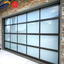 all glass garage door aluminum frame glass garage door s full view glass panel home all glass garage door