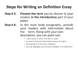 steps to write a definition essay definition essay a powerful guide to writing an excellent paper