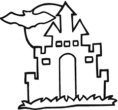 Small Picture Spooky House Coloring Page Coloring Coloring Pages