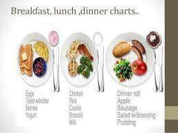 Breakfast Lunch And Dinner Chart Healthy Lifestyle