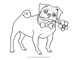 Small Picture Printable Pug Coloring Page The Inky Octopus