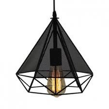 diamond wire frame hanging light 1