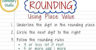 Rounding Rules Chart Elementary Studies Rounding Of Numbers To The Nearest 10