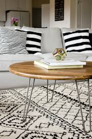 entrancing rustic white coffee table of interior hairpin leg tutorial legs ing side