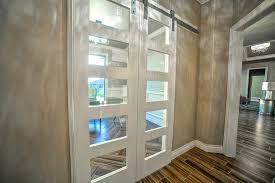 glass barn doors sliding contemporary barn doors home office transitional with barn door white glass barn