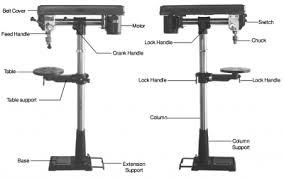 drill press parts. diagram drill press parts
