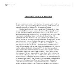 discursive essay on abortion gcse religious studies philosophy  document image preview