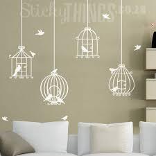 bird cage wall art decal sticker stickythingscoza