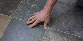 tile installed over vinyl floor