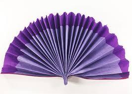 diy tissue paper fans and pompom flowers for cinco de mayo fan purple