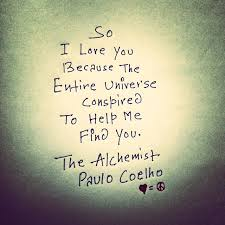 the best the alchemist paulo coelho ideas the so i love you because the entire universe conspired to help me you