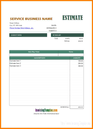 Estimate Template 24 Estimate Template Pdf Business Opportunity Program 12
