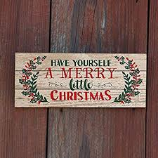 Wooden Signs With Quotes Adorable Amazon MODE HOME 4448448x448 Christmas Wall Decor Decorative