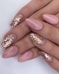 Rose and gold nail art inspiration - LadyStyle  http://hubz.info/113/stunning-wedding-nail-art-desgins   Gold nails, Almond  nails designs, Luminous nails