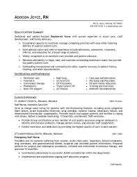 Registered Nurse Resume Samples Free Resume Sample