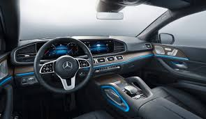 Chrome and aluminum interior accents: Mercedes Benz Gle Coupe 2019 Daimler Global Media Site