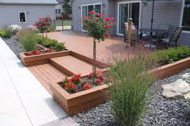diy composite deck kits new posite decking with built in landscaping makes it easy to