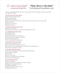 list of items needed for baby baby shower checklist 5 free pdf psd documents download free