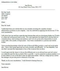 example of a cover letter for administrative jobs cover letter for office administrator