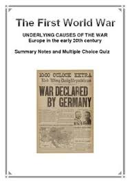 best ww images teaching resources wwi and history first world war summary notes and multiple choice quiz