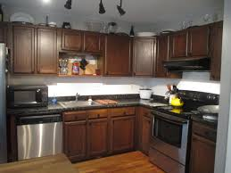 how to update and refinish oak kitchen cabinets black microwave beside single sink on black